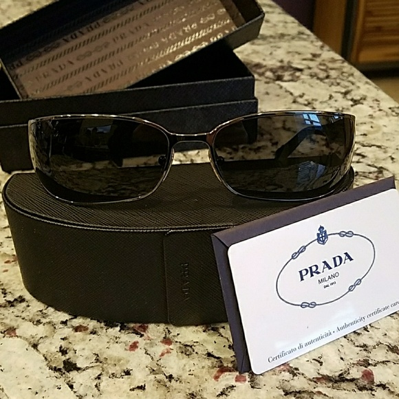 358ca8ad9012 Prada Mens Black Sunglasses